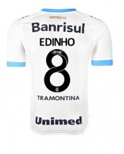 Gremio Jersey 2015/16 Away White Soccer Shirt #8 EDINHO