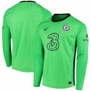 Chelsea 20-21 Green Goalkeeper Long Sleeve Soccer Jersey