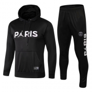 Youth 18-19 PSG Air Jordan Black Hoodie Suits