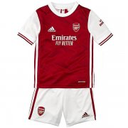 Kids Arsenal 20-21 Home Red Jersey Kit (Jersey+Shorts)