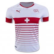Switzerland Jersey 2016 Away White Soccer Shirt