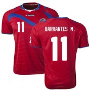 Costa Rica 2014/15 Home Soccer Shirt #11 BARRANTES M.