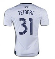 White Caps FC Jersey 2015/16 Home Soccer Shirt #31 TEIBERT