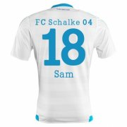 Schalke 04 Jersey 2015/16 Away Soccer Shirt #18 Sam