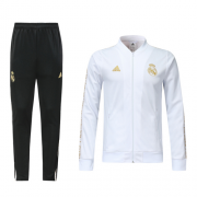 2019-20 Real Madrid White V-Neck Training Kit