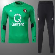 Feyenoord Jersey 2017/18 Green Soccer Training Sweater Suit Uniform