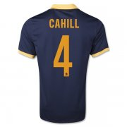 Australia 2014 Away Soccer Shirt #4 Tim Cahill