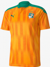 Ivory Coast 20-21 Home Orange&Green Soccer Shirt
