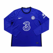 Chelsea 20-21 Home Blue Long Sleeve Soccer Jersey Shirt
