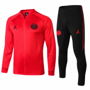 Youth 18-19 PSG Air Jordan Full Zip Red TrackSuit