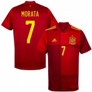 Euro 2020 Spain Home Red #7 Morata Soccer Jersey Shirt