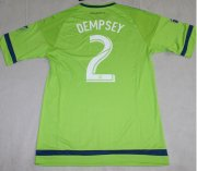 Seattle Sounders Jersey 2015/16 Home Soccer Shirt #2 Dempsey