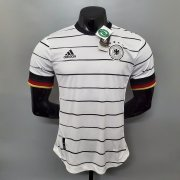 20-21 Germany Soccer Jersey 2021 Euro Home White Soccer Shirt (Player Version)