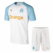 Olympic Marseille 2018-19 Home Soccer Kit(Jersey+Shorts