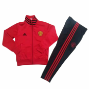 Youth 18-19 Manchester United Full Zip Red Tracksuit