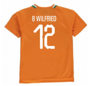 Ivory Coast 2018-19 Home Soccer Shirt #12 B Wilfried