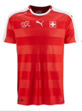 Switzerland Jersey 2016 Home Red Soccer Shirt