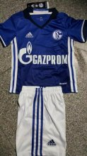 Schalke 04 Youth Jersey 2016/17 Home Soccer Shirt Kids Kits