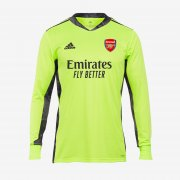 20-21 Arsenal Goalkeeper Green Long Sleeve Soccer Jersey Shirt