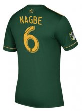 Portland Timbers Jersey 2017/18 Home Soccer Shirt #6 Nagbe