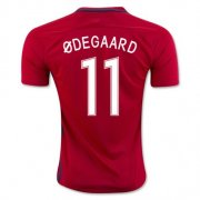Norway Jersey 2016/17 Home Soccer Shirt #11 Odegaard