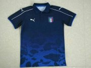 Italy Jersey 2017-18 Dark Blue POLO Shirt