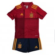 Kids Spain 2020 Home Red Whole Kit (Jersey+Shorts)