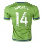 Seattle Sounders Jersey 2015/16 Home Soccer Shirt #14 Marshall