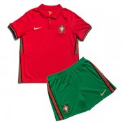 Kids 2020 Portugal Home Red Soccer Kits (Jersey+Shorts)