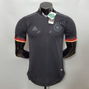 20-21 Germany Soccer Jersey 2021 Euro Away Black Soccer Shirt (Player Version)