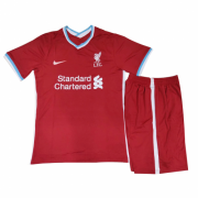 Kids Liverpool 20-21 Home Red Kit (Jersey+Shorts)