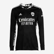 20-21 Arsenal Goalkeeper Black Long Sleeve Soccer Jersey Shirt