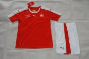 Switzerland Youth Jersey 2016 Euro Home Red Soccer Shirt