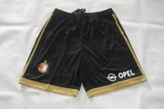Feyenoord Jersey 2015/16 Away Black Soccer Shorts