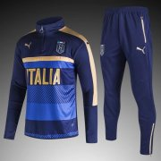 Italy Jersey 2017/18 Dark Blue Soccer Sweater Hoodies Uniform