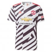 Manchester United 20-21 Third White Soccer Jersey Shirt