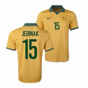 Australia 2014 Home Soccer Shirt #15 Mile Jedinak