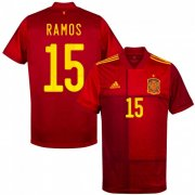 Euro 2020 Spain Home Red #15 RAMOS Soccer Jersey Shirt