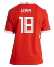 Wales Jersey 2018 World Cup Home Red Soccer Shirt #18 Vokes