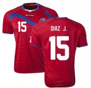 Costa Rica 2014/15 Home Soccer Shirt #15 DIAZ.J