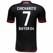 Bayer Leverkusen Jersey 2015/16 Black Soccer Shirt #7 Chicharito
