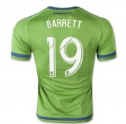 Seattle Sounders Jersey 2015/16 Home Soccer Shirt #19 Barrett
