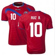 Costa Rica 2014/15 Home Soccer Shirt #10 RUIZ B.