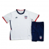 Kids 2020-21 USA Home White Soccer Jersey Kits(Shirt+Shorts)
