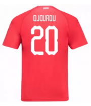 Switzerland Jerseys 2018-19 Home Soccer Shirt #20 Djourou