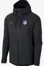 Atletico Madrid Jersey 2017/18 Black Soccer Hoody Jacket