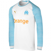 Marseilles 18-19 Long Sleeve Home Soccer Jersey