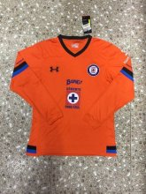 Cruz Azul Jersey 2015/16 Away Orange LS Soccer Shirt