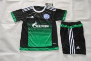 Schalke 04 Youth Jersey 2015/16 Home Soccer Shirt Kids Kits