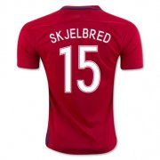 Norway Jersey 2016/17 Home Soccer Shirt #15 Skjelbred